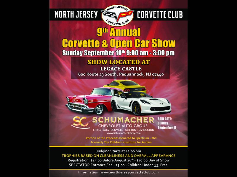 Sep 10 North Jersey Corvette Club Annual Open Car Show Wayne Nj Patch