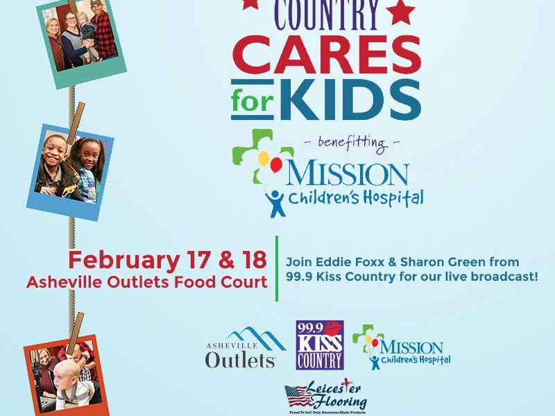 Asheville Outlets Teams Up With 999 KISS Country Cares For Kids