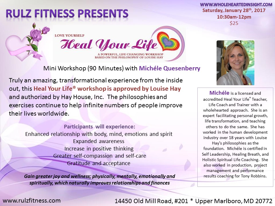 Jan 28 Heal Your Life Workshop Upper Marlboro Md Patch