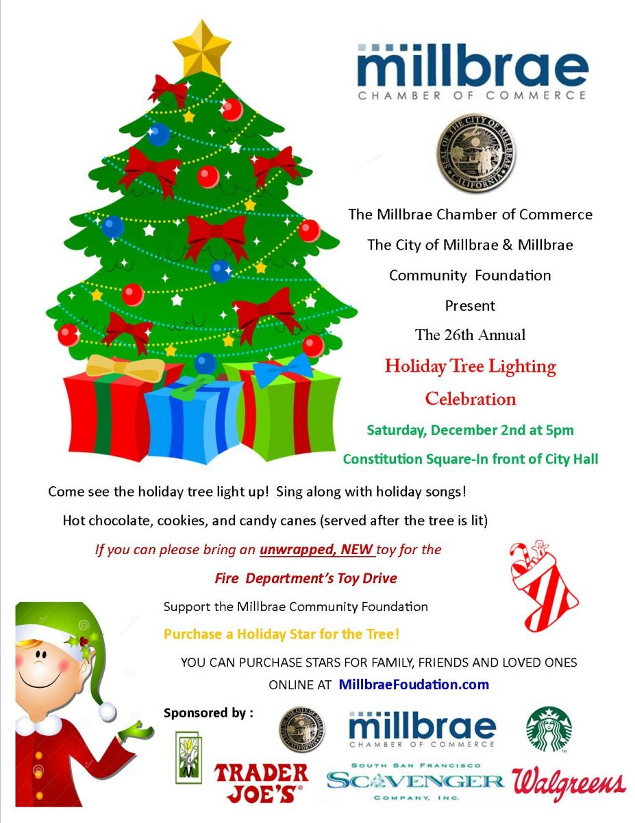 Dec 2 | Holiday Tree Lighting, Sing-Along, Cookies & Cocoa: Millbrae ...