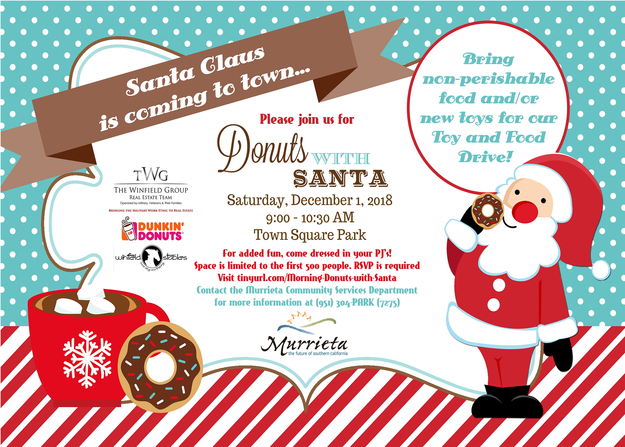 Dec 1 | Donuts with Santa 2018: Town Square Park, Murrieta ...