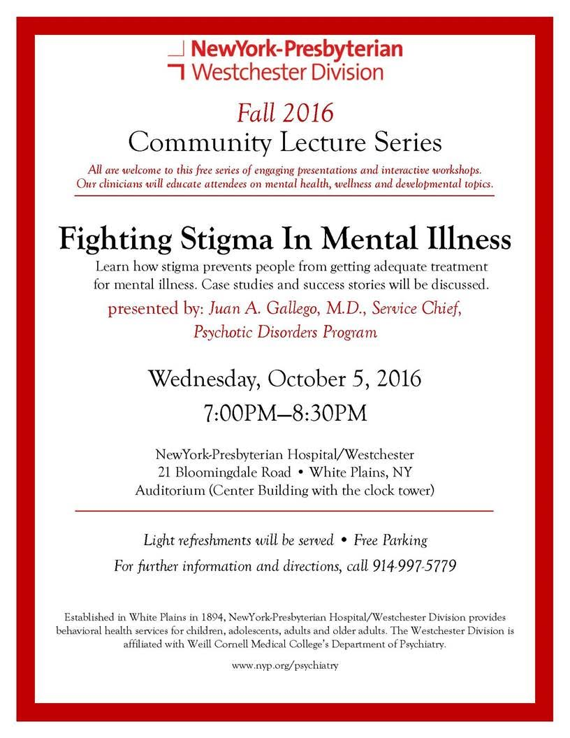 Oct 5 Fighting Stigma In Mental Health White Plains Ny Patch