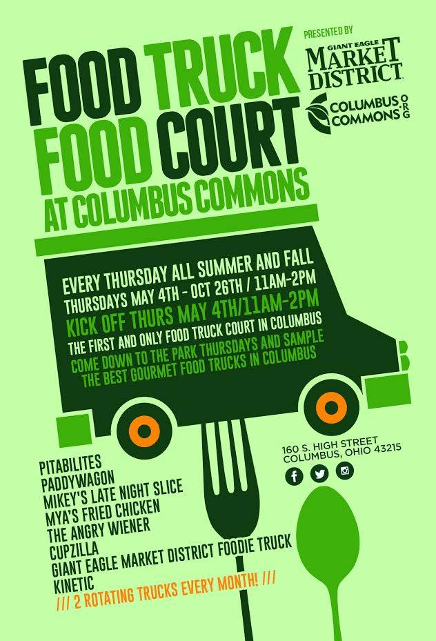 May 25 Food Truck Food Court At Columbus Commons Columbus Oh Patch