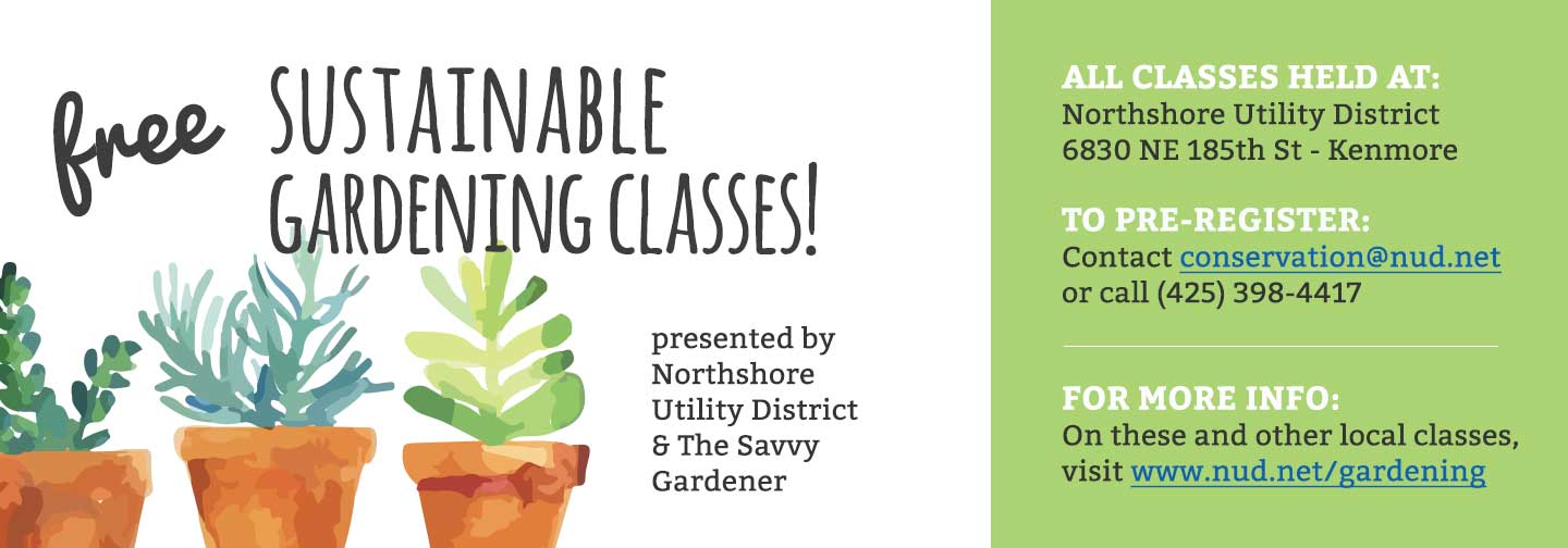 May 9 Free Sustainable Gardening Class Creating A