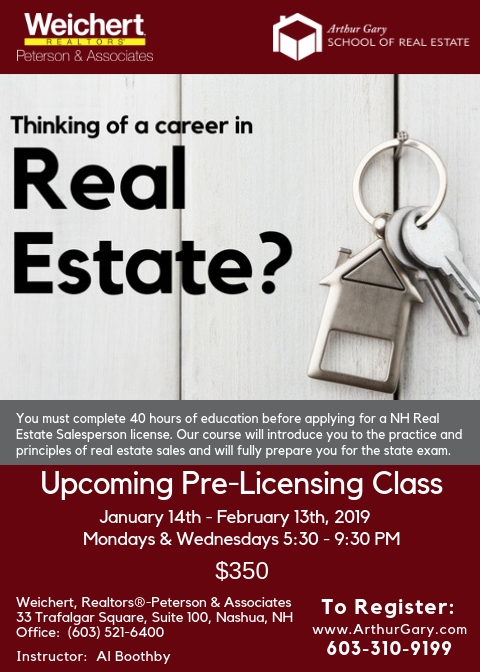 Dec 26 Nh Real Estate Pre Licensing School Nashua Nh Patch