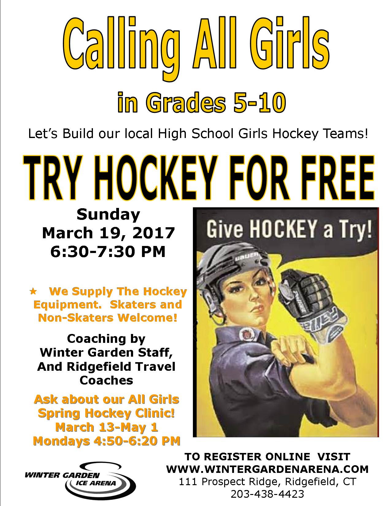 girls try hockey for free ridgefield ct patch