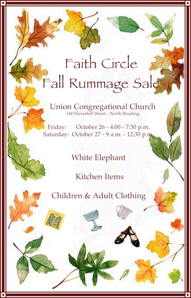 Oct 27 | faith circle fall rummage sale | north reading, ma patch.